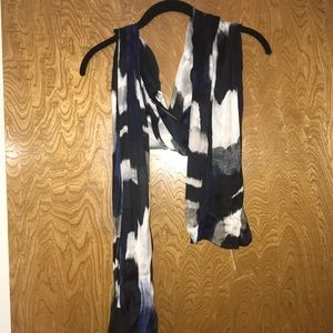 Black and Blue scarf from Chico's